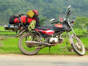 The most common motorbike to be found flogged in the backpacker street!